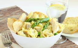 与鸡的意大利式饺子 图库摄影
