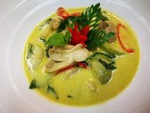 与鸡的泰国绿色咖喱 免版税库存图片