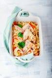 与鸡的被炖的圆白菜 免版税图库摄影