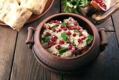与鸡的Satsivi是传统英王乔治一世至三世时期食物 免版税库存照片