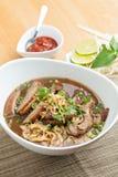 与鸭子的泰国样式汤 免版税库存照片