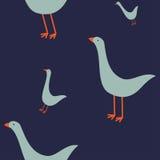 与鹅的无缝的样式 库存图片