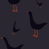 与鹅的无缝的样式 免版税库存图片