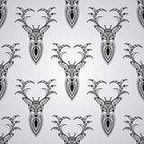 与鹿的传染媒介无缝的样式 免版税图库摄影