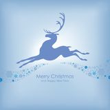 与鹿的圣诞卡 库存图片