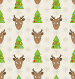 与鹿的圣诞节无缝的样式 皇族释放例证