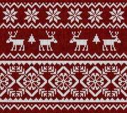 与鹿的被编织的背景 免版税库存照片