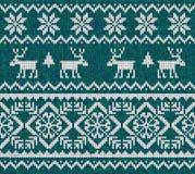 与鹿的被编织的背景 库存例证