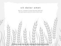 与麦子分支的水平的农业海报 免版税图库摄影