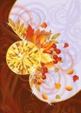 与黄玉的秋天看板卡 免版税库存照片