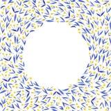 与黄色和蓝色郁金香的无缝的样式开花 库存图片