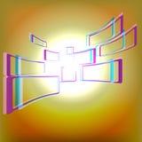 与黄色焕发视窗的抽象背景 图库摄影