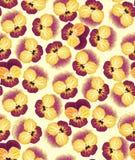 与黄色花的无缝的模式 库存图片