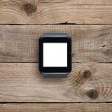 与黑屏的Smartwatch 库存照片
