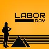 与黑条纹的劳动节图象 免版税库存图片