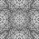 与黑白坛场的无缝的纹理 库存例证