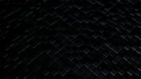 与黑立方体的抽象背景 免版税库存图片