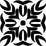 与黑设计的曼德拉设计 花卉,ilustration,黑根 库存例证