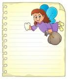与齿妖的笔记薄页 免版税库存照片