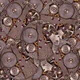 与齿轮的老时钟机制 免版税库存图片