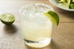 与龙舌兰酒的酒精石灰玛格丽塔 免版税库存照片