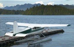 与水上飞机的风景在纳奈莫 温哥华 加拿大 免版税库存照片
