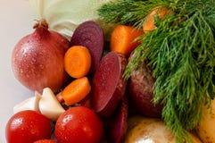 与水下落的新vegetabtes 免版税库存图片