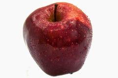 与水下落的被隔绝的新鲜的苹果 库存照片