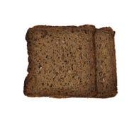 100%与整个五谷和没有酵母的黑麦面包 免版税库存图片