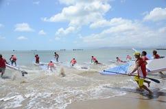 与25个国家的参与的Kitesurfing奖亚洲游览 免版税库存照片