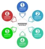 与6个编辑可能的选择的企业infographic介绍模板 库存例证