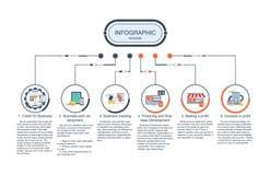 与3个选择的介绍企业infographic模板 也corel凹道例证向量 库存照片
