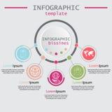 与5个选择的介绍企业infographic模板 导航用于介绍和工作流的现代横幅 库存图片