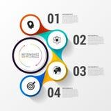 与4个选择的企业概念 Infographic设计 向量 库存图片