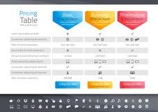 与3个选择的轻的定价桌 象集合inclu 图库摄影
