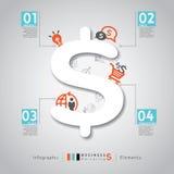 与4个P营销企业概念的现代样式布局 免版税图库摄影