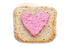 可爱的桃红色面包切片 免版税图库摄影