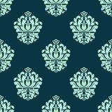 与巴洛克式的花卉网眼图案的无缝的样式 免版税库存图片