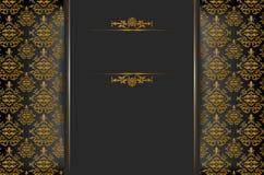 与巴洛克式的装饰品的文本的背景和地方 库存照片