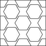 与黑六角形的无缝的样式 免版税库存图片