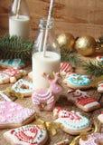 与结冰的姜曲奇饼 库存照片