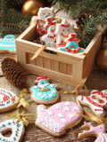 与结冰的姜曲奇饼 库存图片