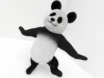 与头发的熊猫3d字符 库存照片