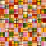 与织品样式的无缝的背景 免版税图库摄影