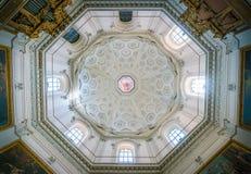 与`圣父`的圆顶弗朗切斯科Cozza,在圣玛丽亚della步幅教会里在罗马,意大利 免版税库存图片