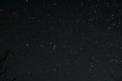 与仙女座星系的Starfield 库存照片