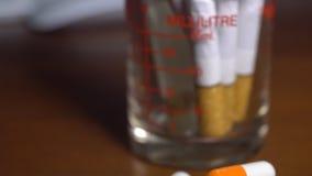与医学不健康的标志的抽象香烟 影视素材