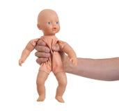 与婴孩玩具(没有商标)的成人 库存照片