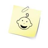 与婴孩头微笑传染媒介的提示 图库摄影
