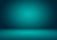 与黑小插图演播室井用途的光滑的绿松石作为backgrou 库存图片